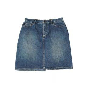 Ralph Lauren Denim Skirt Pencil Blue Jean
